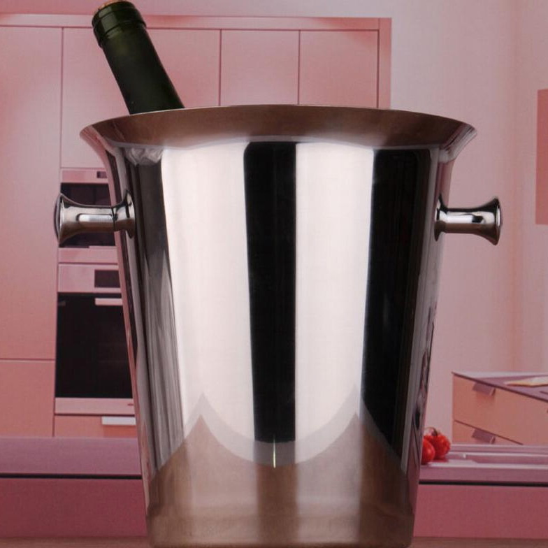 Cheap price stainless steel beer ice bucket red wine barrel champagne bar KTV single ice bucket(China (Mainland))