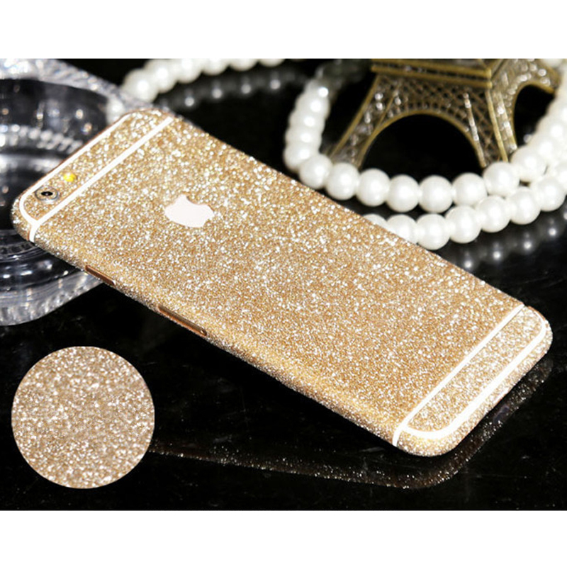 Shiny Glitter Full Body Stickers for iPhone 4S 5S 6 4.7'' 6 Plus Sparkling Diamond Film Decals Matte Screen Protector Wholesale(China (Mainland))