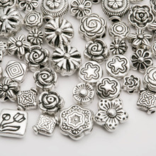 Buy Metal Silver Plated beads Mix Size Zinc Alloy Flower Spacer Beads charm DIY Jewelry Bracelet (70-80 pcs) for $1.69 in AliExpress store
