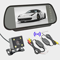 7 0 Car Rear View Mirror Monitors Parking Kit Led Night Vision Car Reverse Camera 2