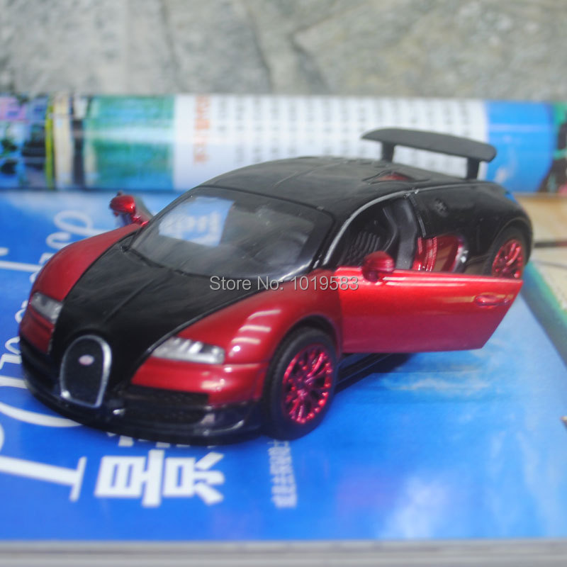 (3pcs/pack) Wholesale 1/32 Scale Car Model Toys Bugatti VEYRON Flashing Musical Diecast Metal Pull Back Car Toy New In Box(China (Mainland))