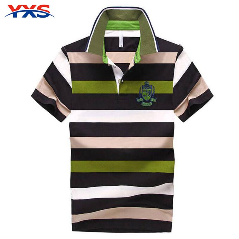 YXS TX08 2016 Men'S Tops Summer Style Free Shipping New Slim Short Sleeve Striped T Shirts Men T-Shirt 5 Size S-4XL Polo Shirts(China (Mainland))