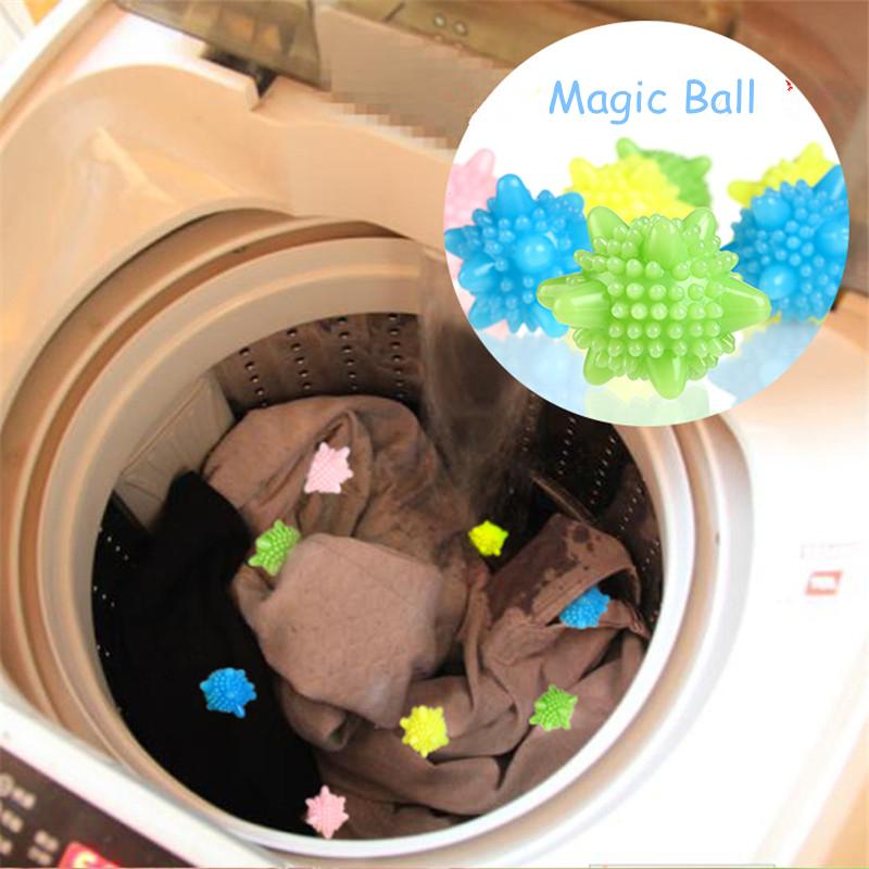 2PCS/Lot Soft PVC Washing Ball Anti Wind Tangled Save Washing Powder Detergent Magic Ball Washing Machine Dryer Ball For Laundry(China (Mainland))