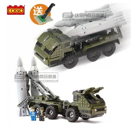 Genuine high volume cars missile defense and military vehicles assembled insert plastic building blocks puzzle toy model(China (Mainland))