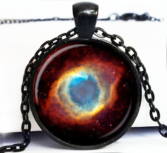 1PC Free Shipping NEBULA Pendant Necklace Galaxy Art. Picture. Photo.Turquoise White Silver Jewelry Necklace Handmade Jewelry(China (Mainland))