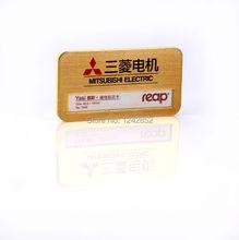 reap badge, 7045LJ, 72*40mm ABS staff name badge tag, ID holder, pin back,  reusable(China (Mainland))