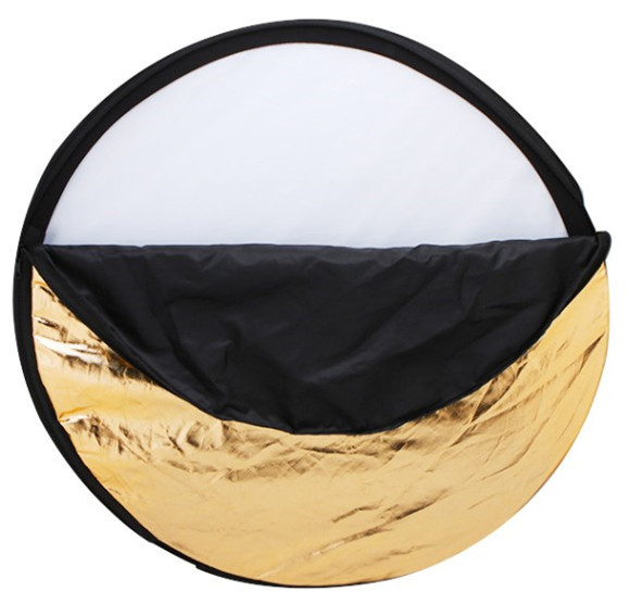 Free Shipping 24 60cm 5 in 1 Portable Collapsible Light Round Photography Reflector for Studio Multi
