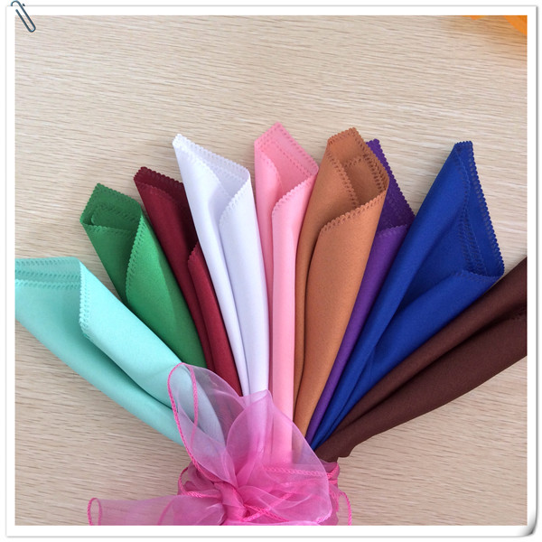 Factory Price !! Factory Price !! 100pcs 45*45cm Many Colors Wedding Napkins Cloth Napkins/fabric table napkins Free Shipping(China (Mainland))