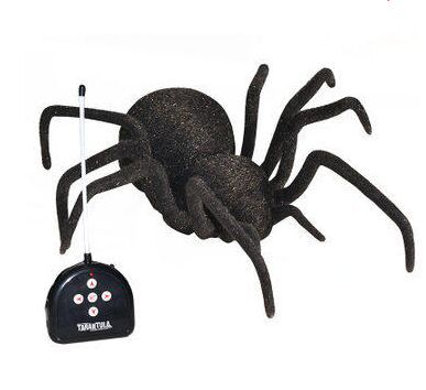 1:1 Model Remote Control 4CH RC Tarantula Spider eye-lighting Chrismas Scary Toy Prank Gift Robot Digital Pets Action Figure(China (Mainland))