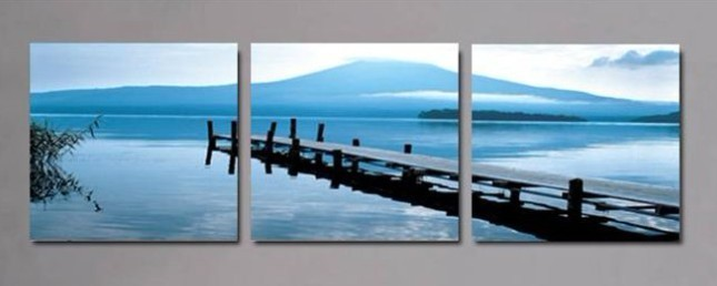 Free shippinFree shipping Fashion oil painting pure hand painting decorative picture frame wall modern 3 landscape painting(China (Mainland))