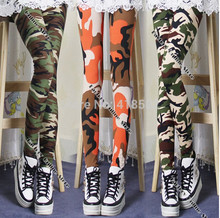 K001--Soft Unique Lady Camouflage print leggings Trouser Army Pants Stretch Leggings for girls Graffiti Style free drop shipping(China (Mainland))