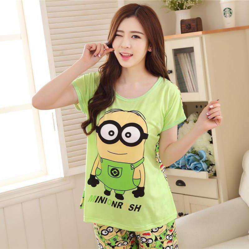 Good Quality Sheep Cartoon Cute Ladies Summer Sleepwear  Women Pyjamas Pajamas Shorts Pajamas For Women Womens Home ClothingОдежда и ак�е��уары<br><br><br>Aliexpress