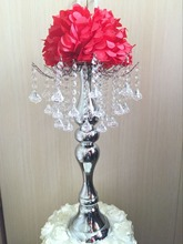 Metal crystal stand Centerpiece for flower display