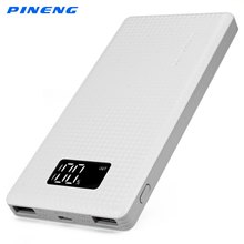 Original New PINENG 10000mAh Portable Battery Mobile Power Bank USB Charger Li-Polymer with LED Indicator For Smartphone(China (Mainland))