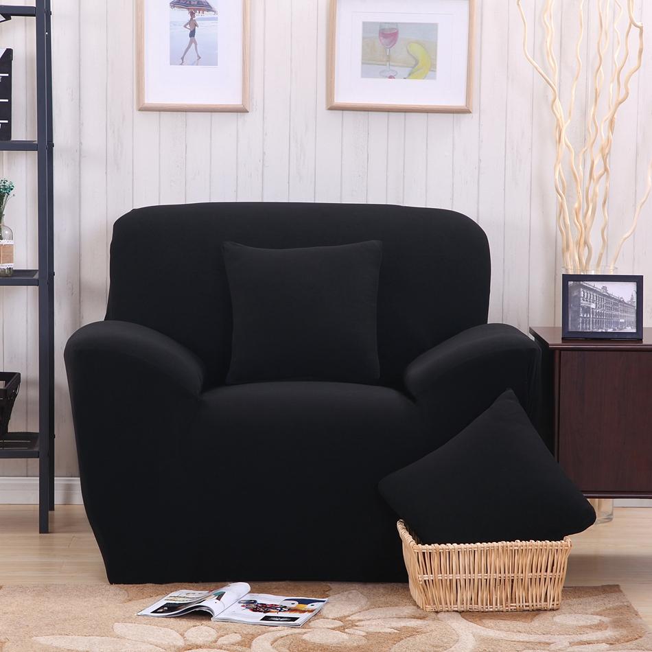 Promoci n de negro sof cubre compra negro sof cubre promocionales en - Fundas universales para sofas ...