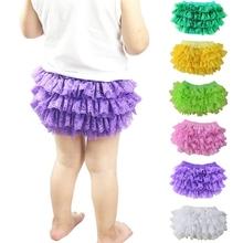 Buy 3Pcs/1lot Baby Girls PP Pants Lace Ruffle Bloomer Princess Pettiskirt Panties Diaper Cover Kids Girls PP Shorts 2017 Summer KU33 for $12.25 in AliExpress store