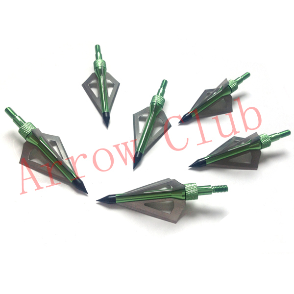 12pcs lot 100GR aluminum alloy stainless steel arrow tips three blades for hunting and archery arrowhead