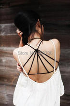 1PC Hot Sexy Backless Hollow Out Base Sport Vest Cotton Spandex Women s Bustier Bra Crop