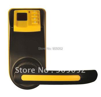 free shipping LS9 Cost effective  Reversible Handle Fingerprint lock door(fingerprint+pin+mechanical key)with 2pcs latch bolt