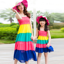 Mother Daughter Dresses / Family Clothing 2015 Matching Mother Daughter Clothes Mom And Daughter Dress Family Look Outfits