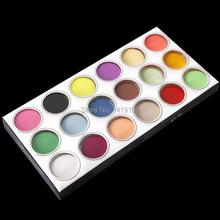 18 Farbe Acryl Glitter Pulver Flüssigkeit Nagel Glitter Staub Juwel Nail Werkzeuge Ausgezeichnete UV Gel Glitter Für Nagel(China (Mainland))