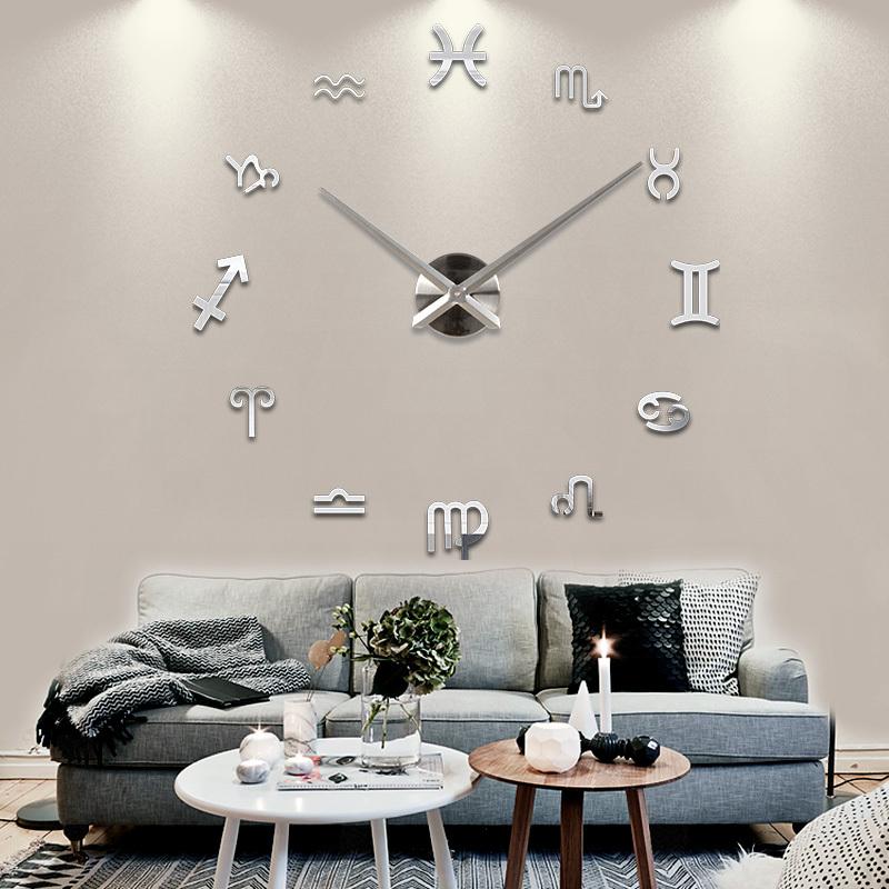 DIY Unique Gifts Home Decor 3D DIY Clock 3D Large Wall Clock Free shipping(China (Mainland))