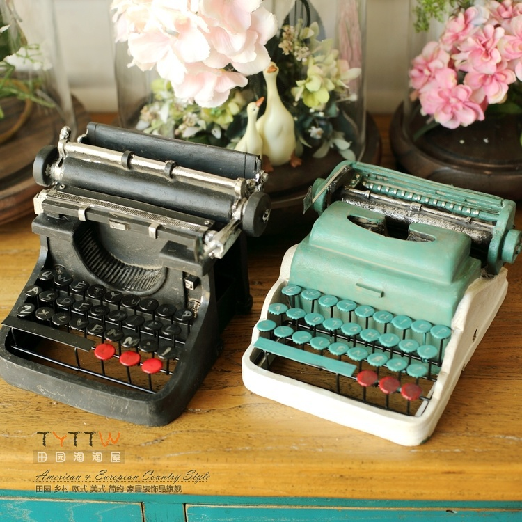 2015 NEW Vintage typewriter Resin iron gifts furnishing articles Photography props model coffee shop and bar window decoration(China (Mainland))