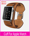 New 1 1 Original Quality Cuff Bracelet Strap Leather Watchband for Pulseira Cuff Apple Watch Band