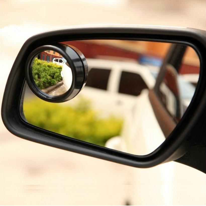 1pair Car Rearview Mirror Small Round Mirror For Fiat Panda Bravo Punto Linea Croma 500 595 Car Styling(China (Mainland))