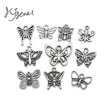 Buy Mixed Tibetan Silver Plated Butterfly Dragonfly Charm Pendant Bracelet Necklace Jewelry Accessories Making Handmade DIY for $1.23 in AliExpress store