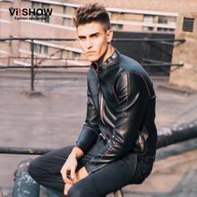 Free Shipping 2015 Autumn Brand Motorcycle Leather Jackets Men Collar Men's Outdoor Casual Leather Winter Pu Jacket Men Coat(China (Mainland))