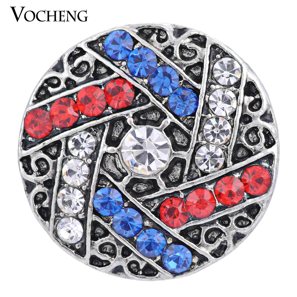 Wholesale 20PCS/Lot Vocheng Snap 3 Colors 18mm Crystal Button Vn-982*20 Free Shipping(China (Mainland))