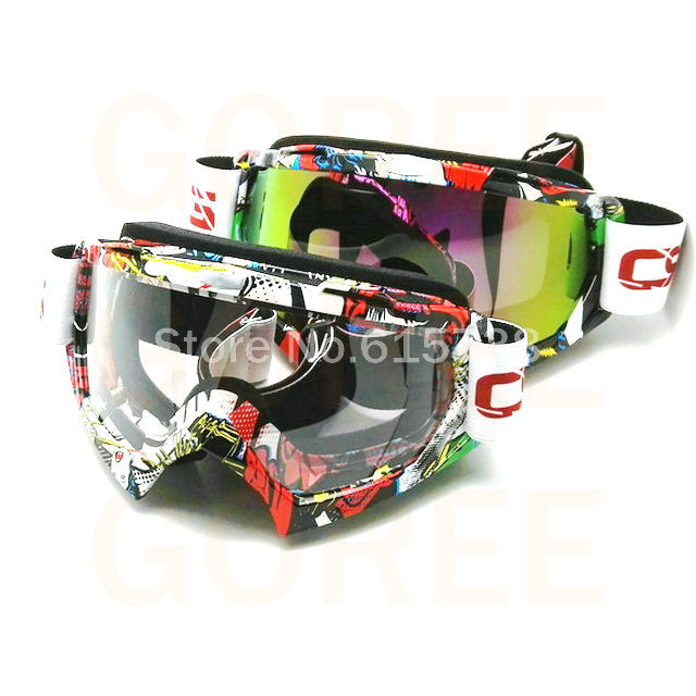 Color len goggle off road motocross goggles glasses for motorcycle goggle dirt bike goggles  Sport racing goggle