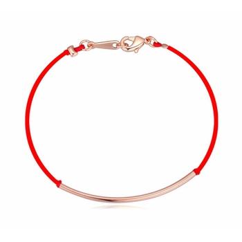 Позолоченные простой удачи красная нить браслет бутик браслет мужчин и женщин