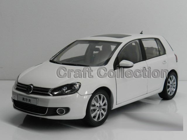 * White 1:18 Volkswagen VW Golf 6 Hatchback Alloy Model Diecast Show Car Classic toys Scale Models Edition Limit(China (Mainland))