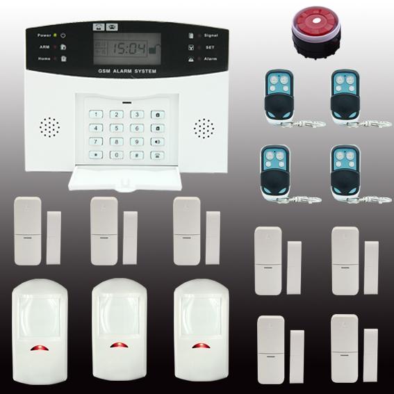 GSM SMS Home Burglar Security Gsm Alarm System Detector Sensor Kit Remote Control Russian lanuage support(China (Mainland))