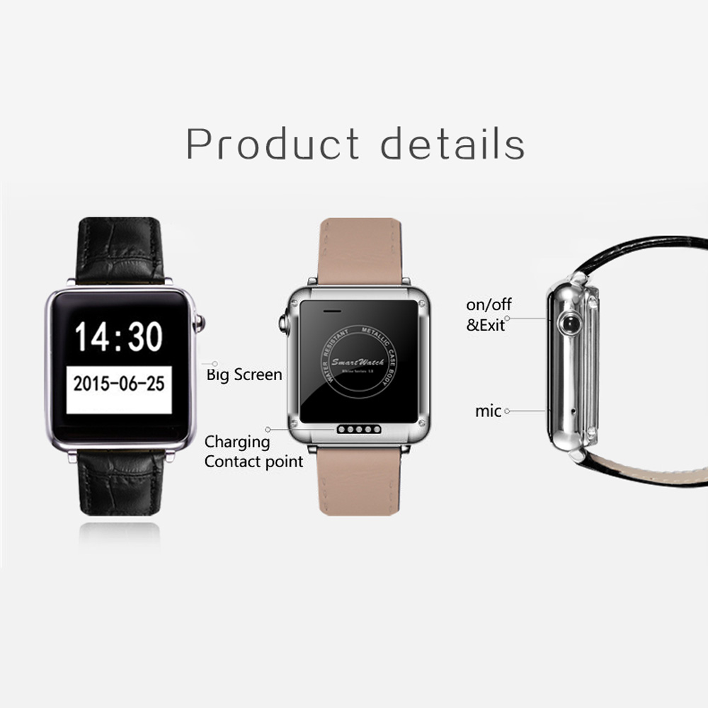 L1S A9 A8 K8 LEM1 X5 Bluetooth Smart Watch 2G SIM Cellphone MTK2502A 128MBPedometer Sleep Monitor Remote Camera Music for Phones