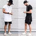 summer style men GOLD side zipper t shirt streetwear style hip hop t shirts fashion clothes