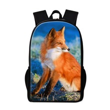 Buy Fox Backpacks Teenager Girls School bags Stylish Animal Pattern Boys Coolest Bookbags Lightweight Back Pack Magazine for $19.97 in AliExpress store