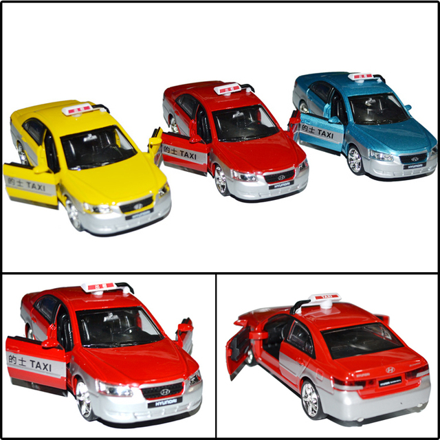 Rmz 89845 modern alloy car model toy taxi plain birthday gift