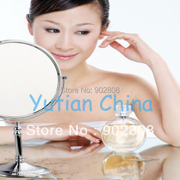 """100% New high quality 8"""" dual Makeup mirrors 1:1 and 1:3 magnifier Copper Cosmetic Bathroom Double Faced Bath Mirror,YT-9103(China (Mainland))"""