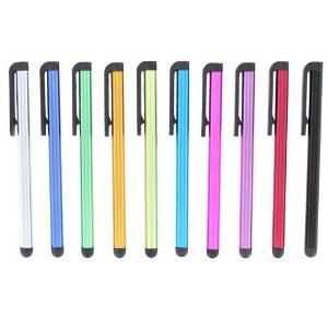 metal capacitive screenstylus pens touch screen pen mix colors  for Ipad Iphone tablet PC cellphone 100pcs free shipping