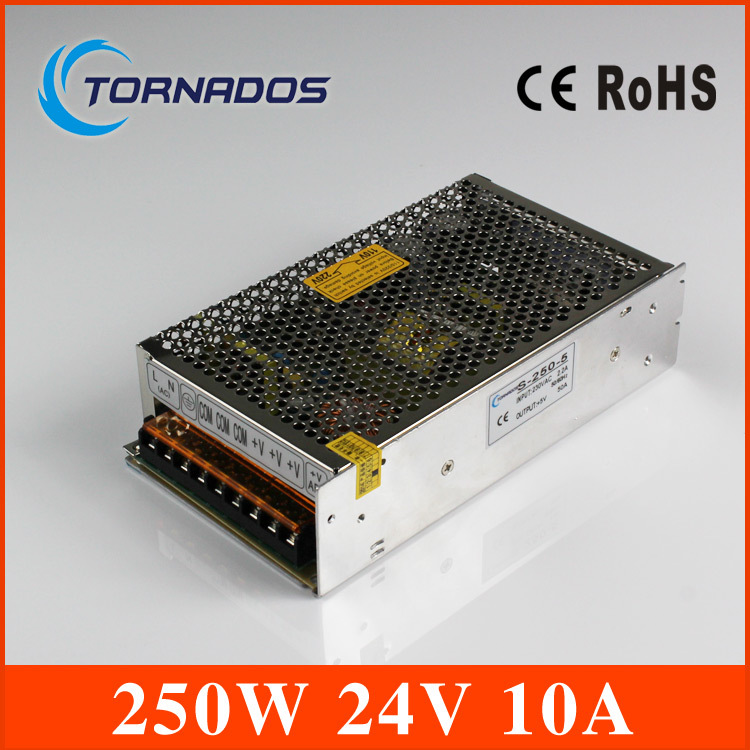 Free Shipping Universal power supply 24V 10A 240W Switch Power Supply Driver Switching For LED Strip