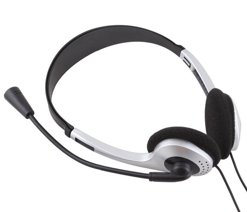 couteur w microphone mic voip skype casque pour. Black Bedroom Furniture Sets. Home Design Ideas