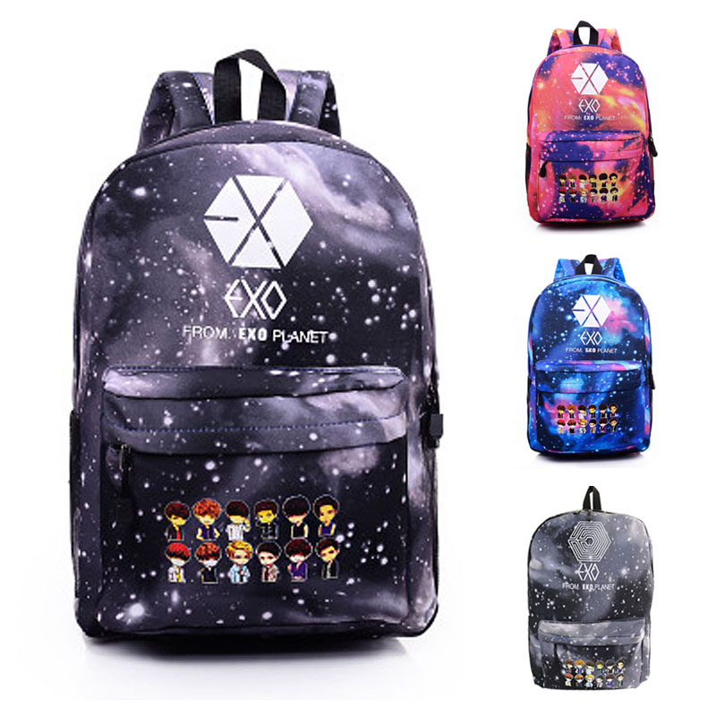 2016 Top New Fashion Exo Backpack Women Bag Ladies Mochila Feminina Backpacks For Teenage Girls School Backpack -in Backpacks from Luggage & Bags on Aliexpress.com | Alibaba Group