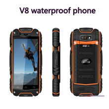 "RUNGEE  V8 Outdoor Smartphoe Android4.4.2 MTK6572 Dual Core 4"" Screen 3G Unlocked GPS Waterproof Dustproof Mobile phone Guophone(China (Mainland))"