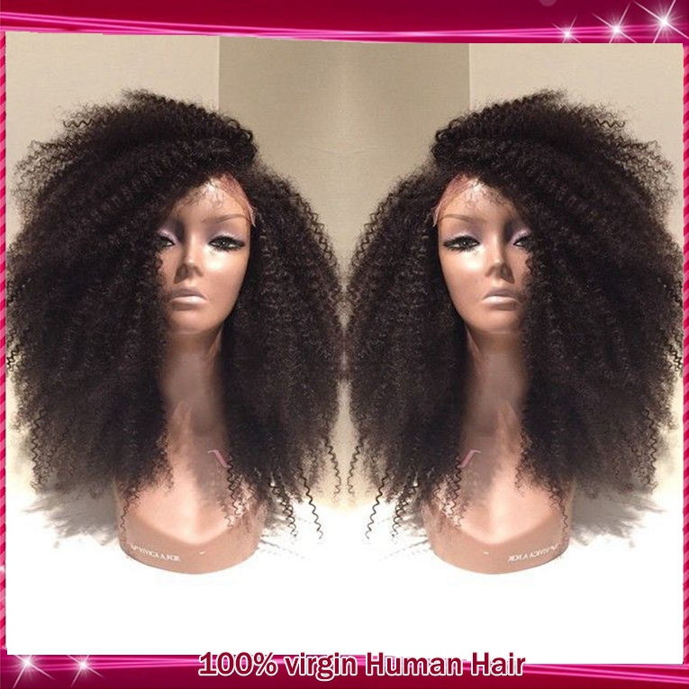 7A Kinky Curly Lace Front Wigs 100% Brazilian Virgin Human Hair Glueless Full Baby Black Women - QD Dinghao Products CO.,LTD store