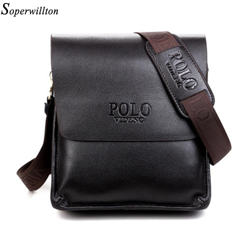 New Fashion 2016 Hot Sale Men Bag Composite Leather Solid Men Messenger Bags Casual Crossbody Business School Bag Soft Black #22(China (Mainland))