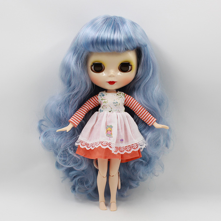 Blue bangs long hair Blyth nude doll with joint body fashion dolls for sale<br><br>Aliexpress