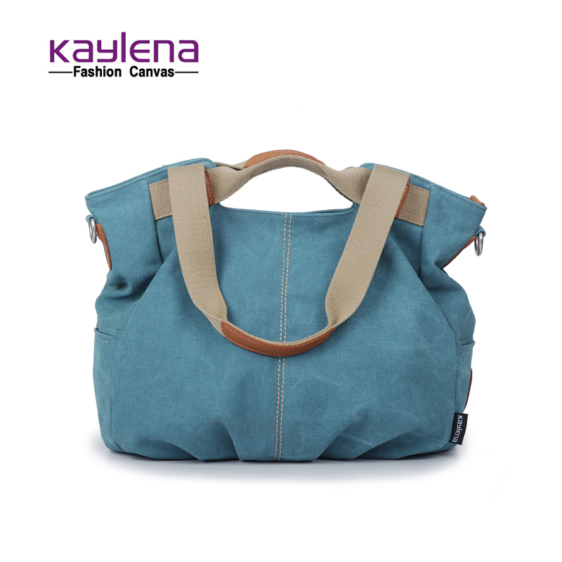 canvas casual one shoulder cross-body handbag fashion women's handbag bag dumplings type bags